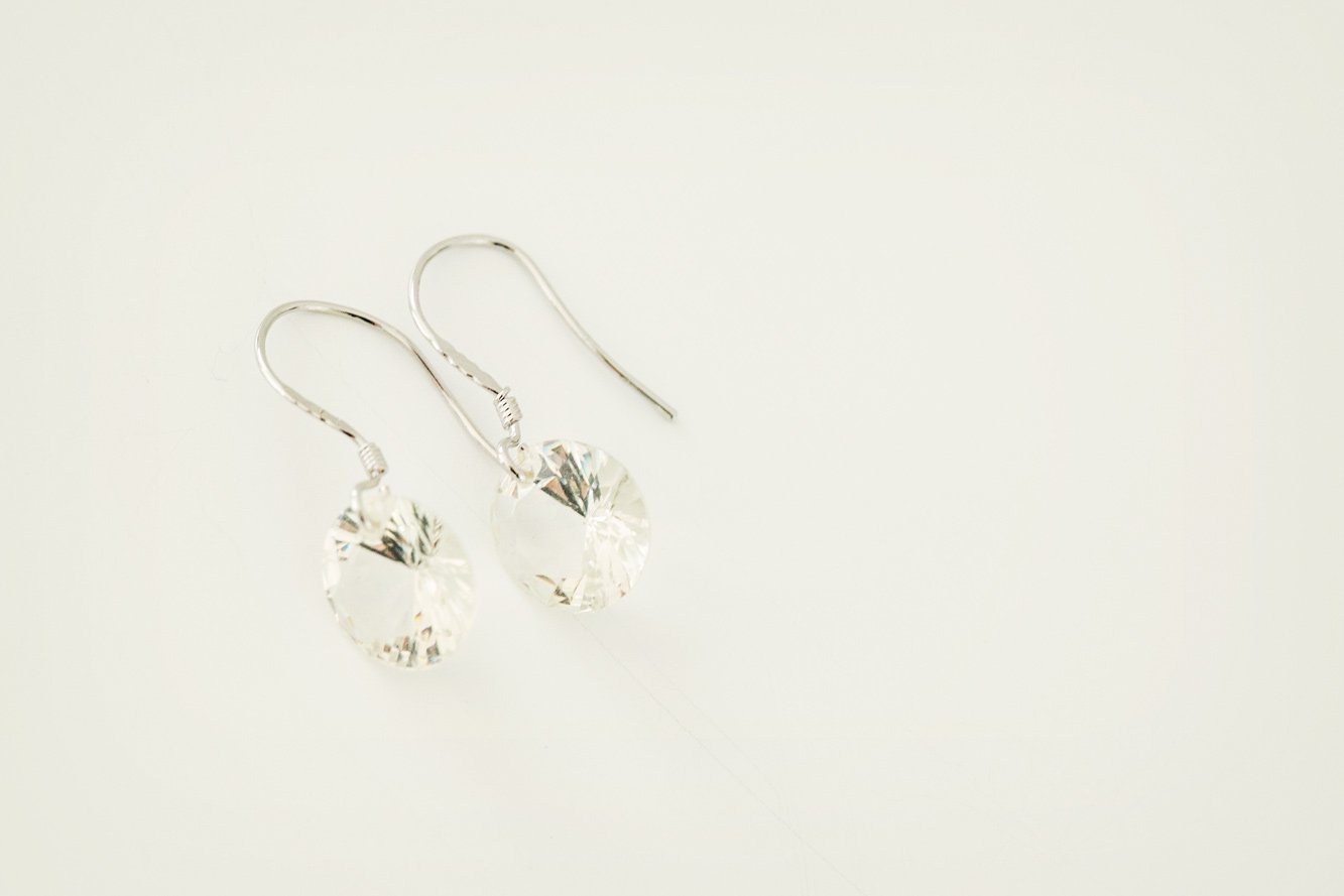 Silver Cubic Zirconia Drop Earrings - Violet and Eve