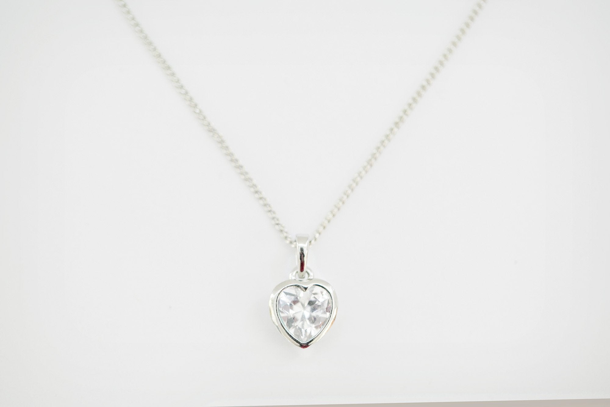Silver Heart Necklace - Violet and Eve