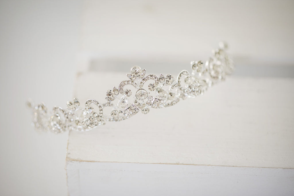 Silver Princess Tiara - Violet and Eve