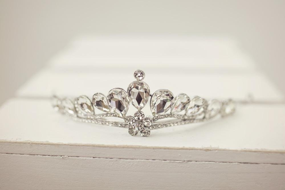 Silver Rhinestone Tiara - Violet and Eve