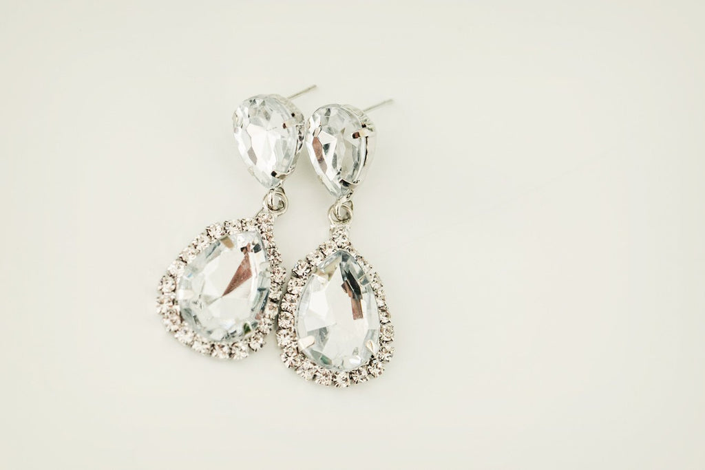Silver Teardrop Earrings - Violet and Eve