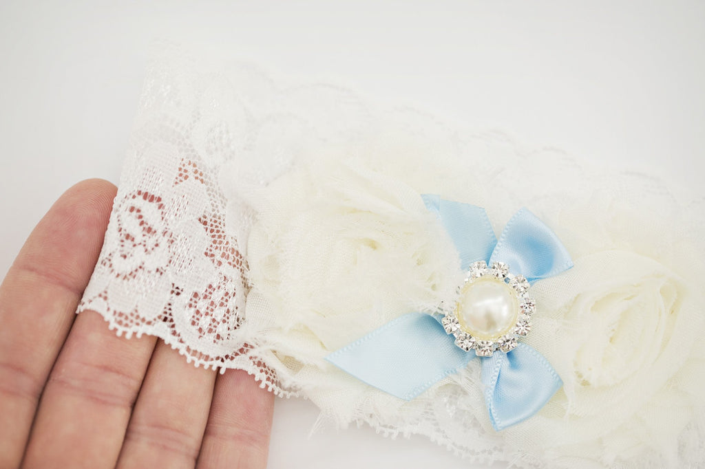 Something Blue Bridal Garter - Violet and Eve