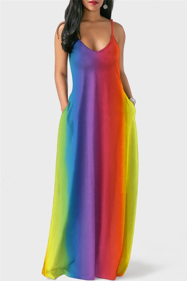 Rainbow Cami Maxi Dress