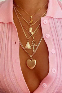 Trendy Layered Heart Shaped Necklace