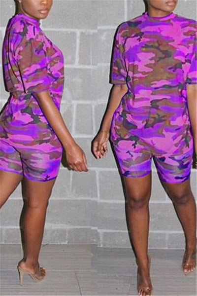 Casual Camo Printed Two PC Sets