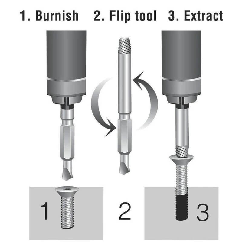 If you've ever stripped a screw or broken off the head of a bolt, you know how frustrating that can be. Well, not anymore. Introducing the Otoko™ Damaged Screw Extractor. You can easily remove any stripped screw in 10 seconds or less.