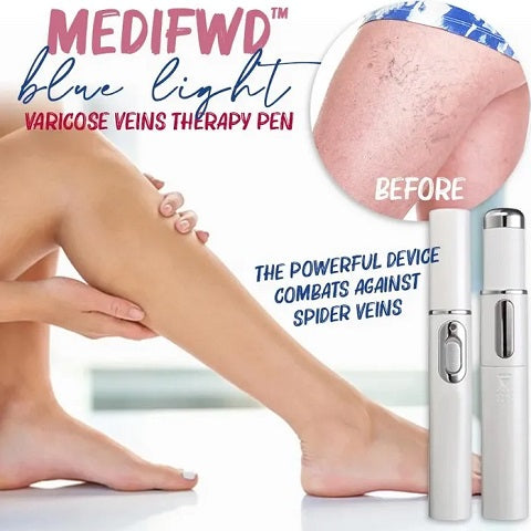 Our MediFwd™ Blue Light Therapy Pen delivers a high-intensity light source to varicose veins and opens up vein blockage, resulting in veins to shrink in size and return to a healthy state.
