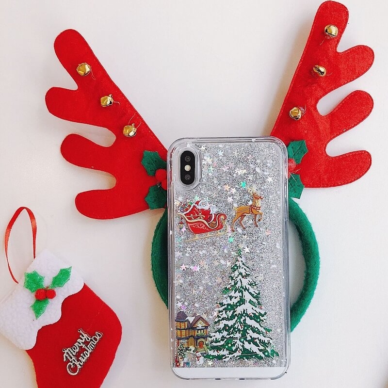We joyfully offer you a product that will add up an extra Christmas spirit to you and your loved ones. Introducing the Insatsu™ Christmas Snowflake Liquid Glitter iPhone Case!