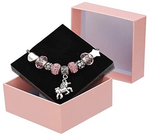 It's time to take your appreciation for unicorns to the next level with these beautiful crystal charm unicorn bracelet. Perfect for the unicorn lover who has a soft spot for all things pretty and girly.