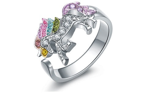 Life is too short to wear a boring ring, wear this unicorn ring to add a little bit of sparkle to your everyday outfits. Makes a perfect gift for unicorn lovers!