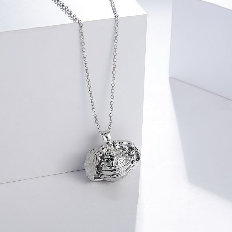 Your love should never be limited to just one photo. This locket gives you the ability to hold your loved ones close to your heart with its unique design. The angel clasps open and expands to allows you to store up to five photos inside.