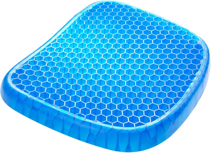 ProWellness™ Gel Seat Cushion Support Pad is an award-winning product that molds perfectly to the shape of your bottom. It provides the right support for you! Now you can sit all day, even on the hardest chair, and steel feel comfortable! It features a proprietary technology that allows it to absorb pressure points by collapsing on itself.