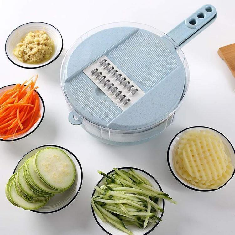 Multi-functional and versatile, this Inscut™ Mandoline Slicer Cutter Chopper And Grater is genuinely a time-saving kitchen tool that certainly lives up to its name! Equipped with 4 interchangeable blades eliminates the need for cutting board. It lets you grate, slice, and peel anything! It's easily disassembled and a snap to clean, wash the disassembled parts with soap and warm water!