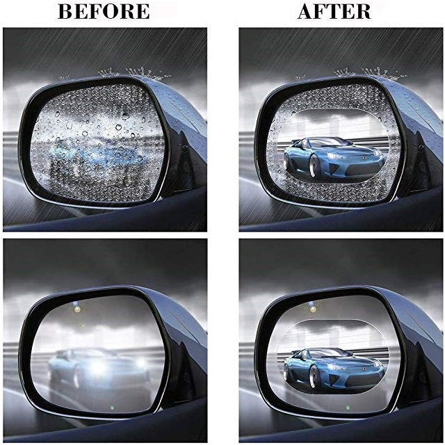 Driving in the rain can be difficult and dangerous! Our patented NanoKit™ Protective Rainproof Film allows you to see clearly in any weather conditions, even in a rainstorm, misty, or foggy weather!