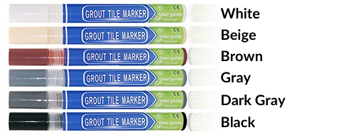 Waterproof grout marker repair pen is designed to instantly color and cover stained, dirty, or old grout.  It also helps prevent further molding with its anti-bacterial formulation.