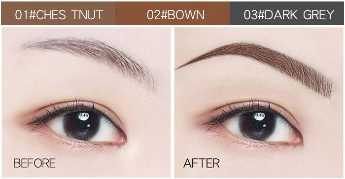 This Waterproof Microblading Pen is a new-concept, four-tip pen that colors each eyebrow with a long-wearing, supernatural look that lasts all day without smudging! The unique 4-tip applicator allows you to create a more hair-like, natural brow appearance.