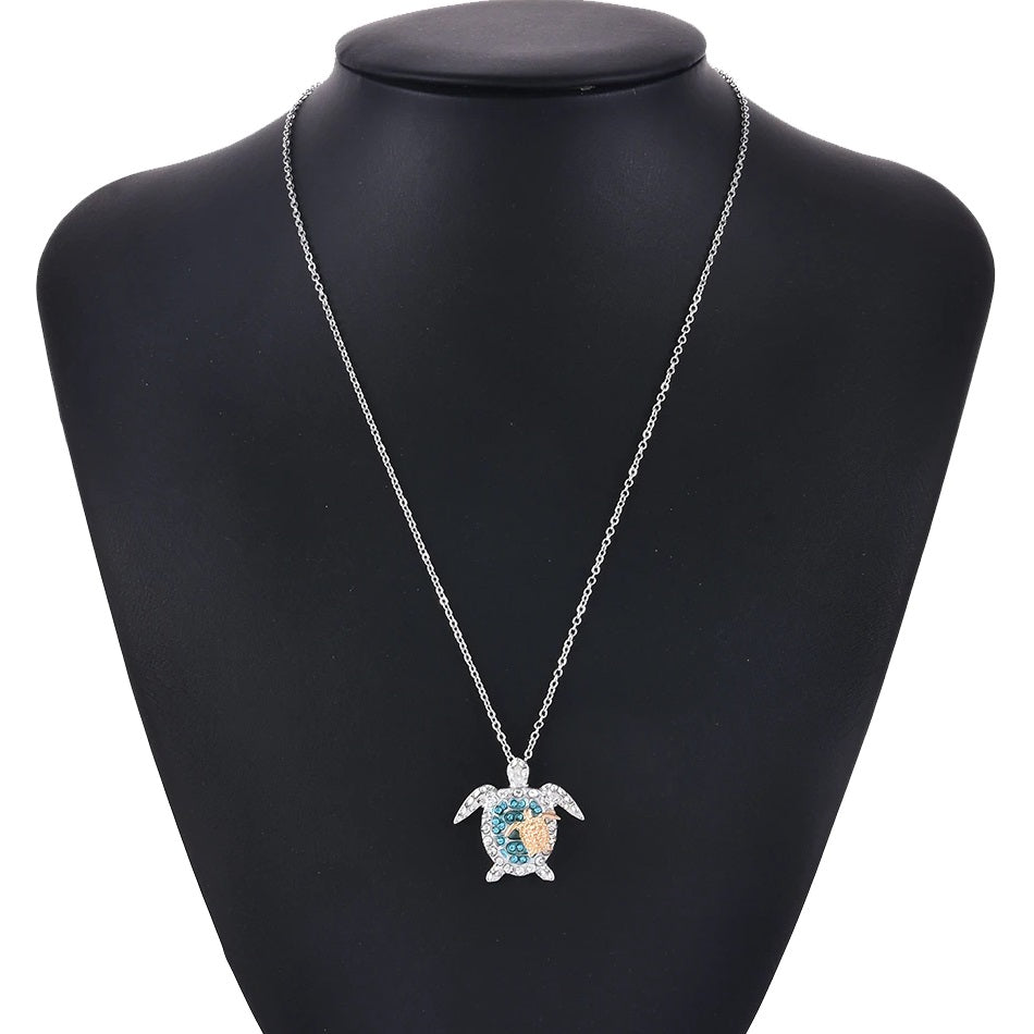 Our mom and baby turtle jewelry symbolize health, longevity, and relationship mom love.