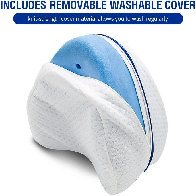 PelvicPillow™ Orthopedic Knee And Leg Pillow lines up your spine along with your hip and knees, stabilizing your posture while resting. Another factor it helps you with is relieving pressure from head to toe by reducing inflammation on the central nervous system.