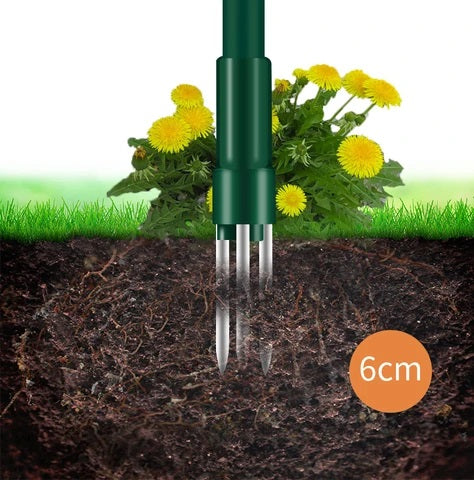 Our HomeEzy™ Standing Weed Puller Root Removal Tool allows you to take out stubborn weeds from the ground surface by simply twisting and pulling!
