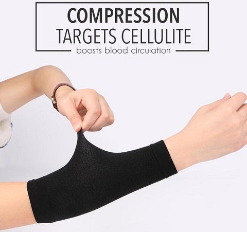 Toneup™ Thermal Arm Shaper Sleeves is designed extra tight for advanced arm compression to tone up loose and sagging skin on the arm area and accentuates your curves by shaping your biceps. Textured ribs stimulate the skin to promote fat burning. Self-heat materials improve blood flow and boost blood circulation.