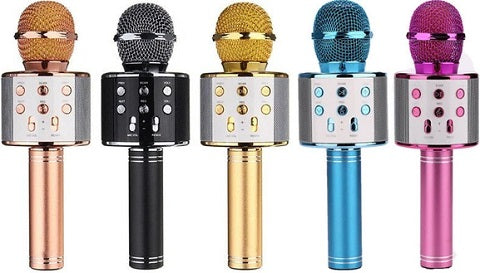 Our MicK™ Wireless Portable Bluetooth Karaoke Microphone is better than a karaoke machine. Easier to use, more fun because it is a cordless microphone allowing you to rock out like a pop star. Have a party with your family and friends and enjoy singing!