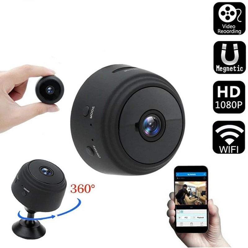 The Wireless Wifi Security Camera With Sensori Night Vision sends an alarm message to your mobile phone and records visitors' activity on the memory card, allowing you to consult it later.