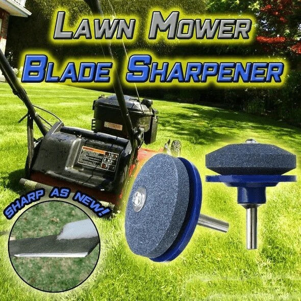 The Glitzy™ Lawn mower Blade Sharpener is specially designed to be fitted at a power drill to sharpen your lawn mower blade.