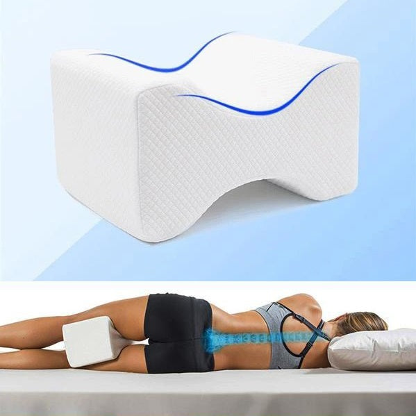 This ProSpine™ Contour Side Sleeper Knee And Leg Pillow is designed to fit between the knees or thighs of sleepers and won't move during sleep, provide optimal spinal alignment to help reduce lower back, leg, hip, ankle, or joint pain.