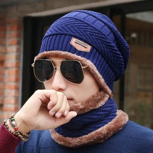 Unisex Knitted Beanie Hat And Neck Warmer