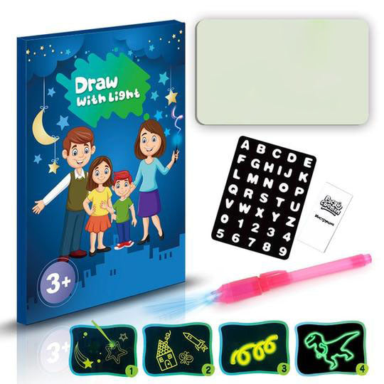 Childhood toys should not be about smartphones only. Our MagicLight™ Magical Drawing Board allows your kids to create amazing drawings and boost their creative potentials.