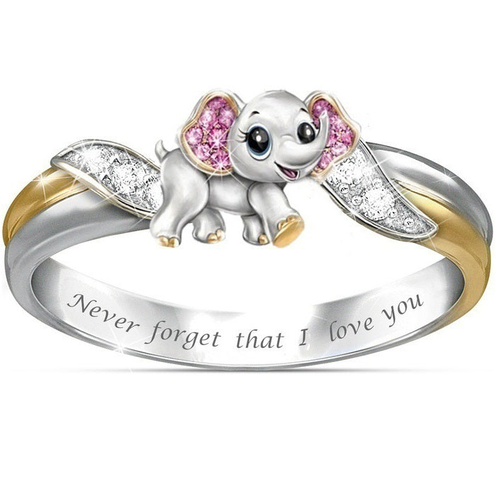 An elephant never forgets, and the charming elephant in this sparkling ring is the perfect way to deliver the remainder of your forever love for your loved ones. Now, celebrating every beautiful moment in your life with this gorgeous elephant ring.