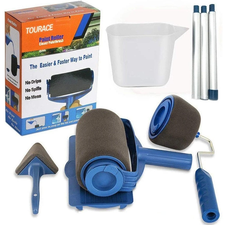 Professional multifunctional paint roller brush tools set to get the job done with no mess, drips, or splatter.