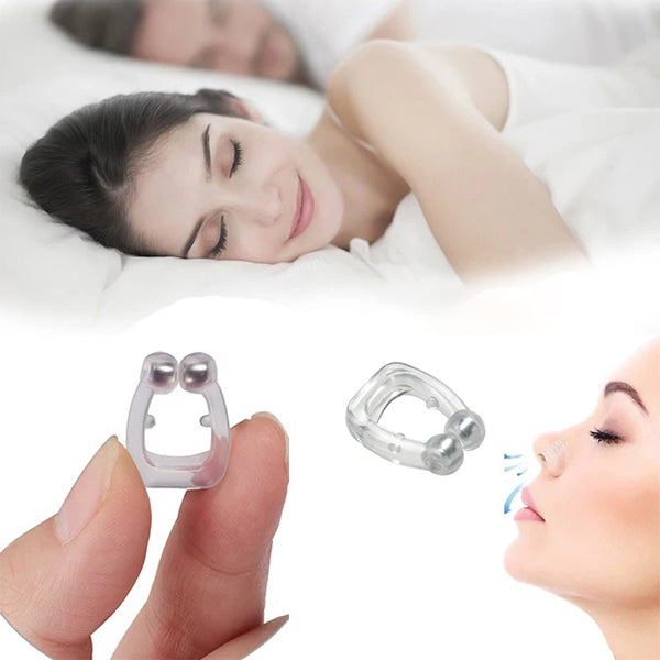 Stop snoring device nose clip can stop snoring, promote the circulation of air in the nose, and increasing the flowing of air.
