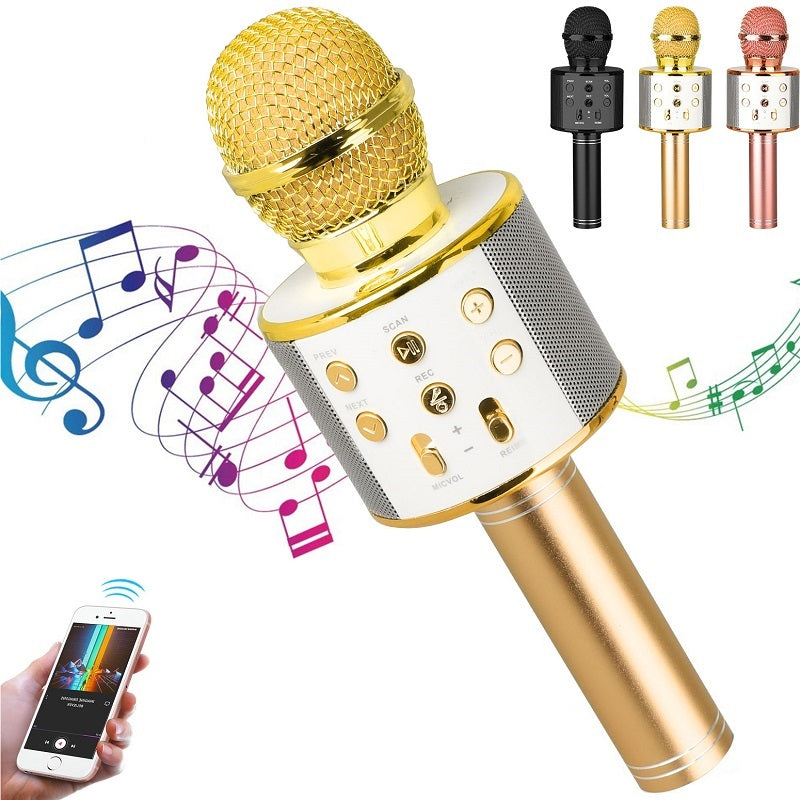 Wireless Portable Bluetooth Karaoke Microphone - 5 Colors Available