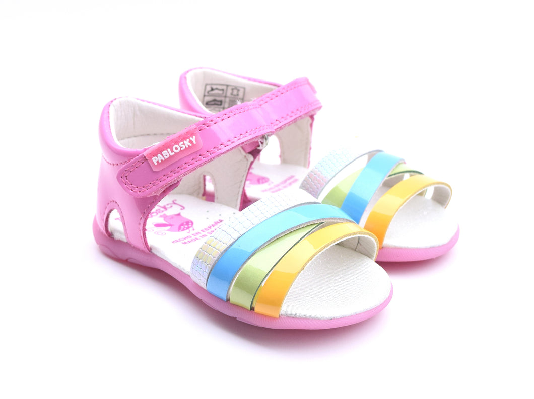 Charol Chicle Sandals