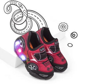 Light-up Race Car Slip-Ons