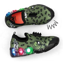 Load image into Gallery viewer, Light-up Dinosaur Slip-Ons