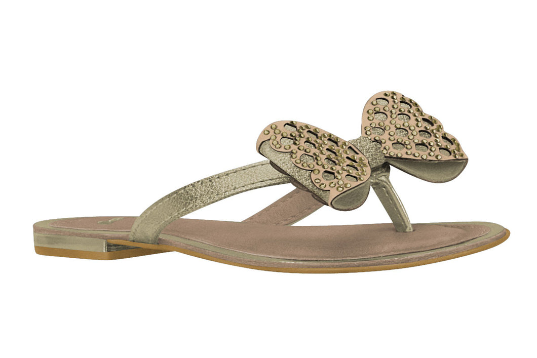 Golden Bow Sandals