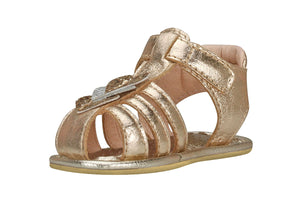 Newborn Gold Hearts Sandals