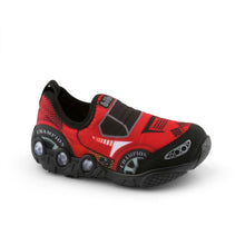 Load image into Gallery viewer, Light-up Race Car Slip-Ons