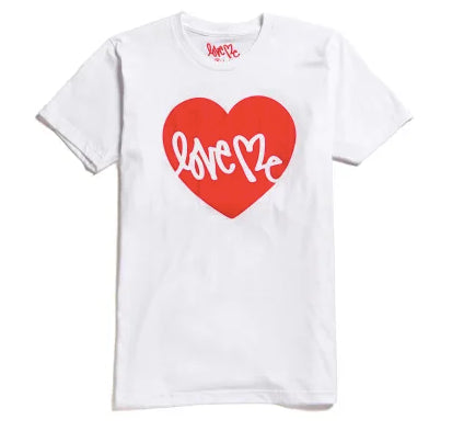 COLETTE HEART TEE IN WHITE