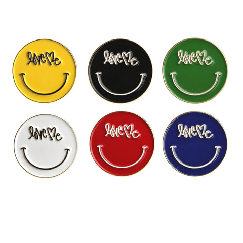 COLLECTION OF 6 SMILEY PINS