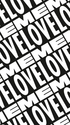 iPhone Love Me Type Sticker Tile Background