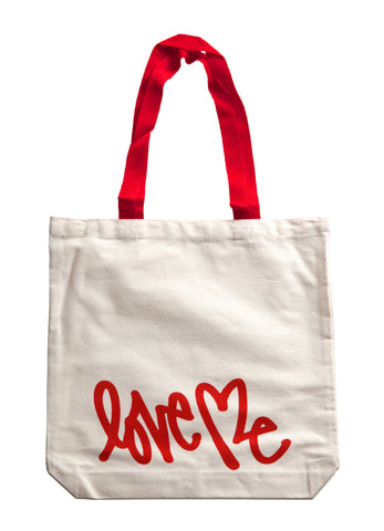 Love Me Tote Bag (red)