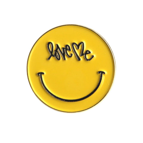 ENAMEL LOVE ME SMILEY PINS