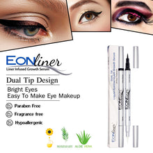 Load image into Gallery viewer, EONLiner plus  Lash Growth Serum Infused-  Black Color Dual Tip
