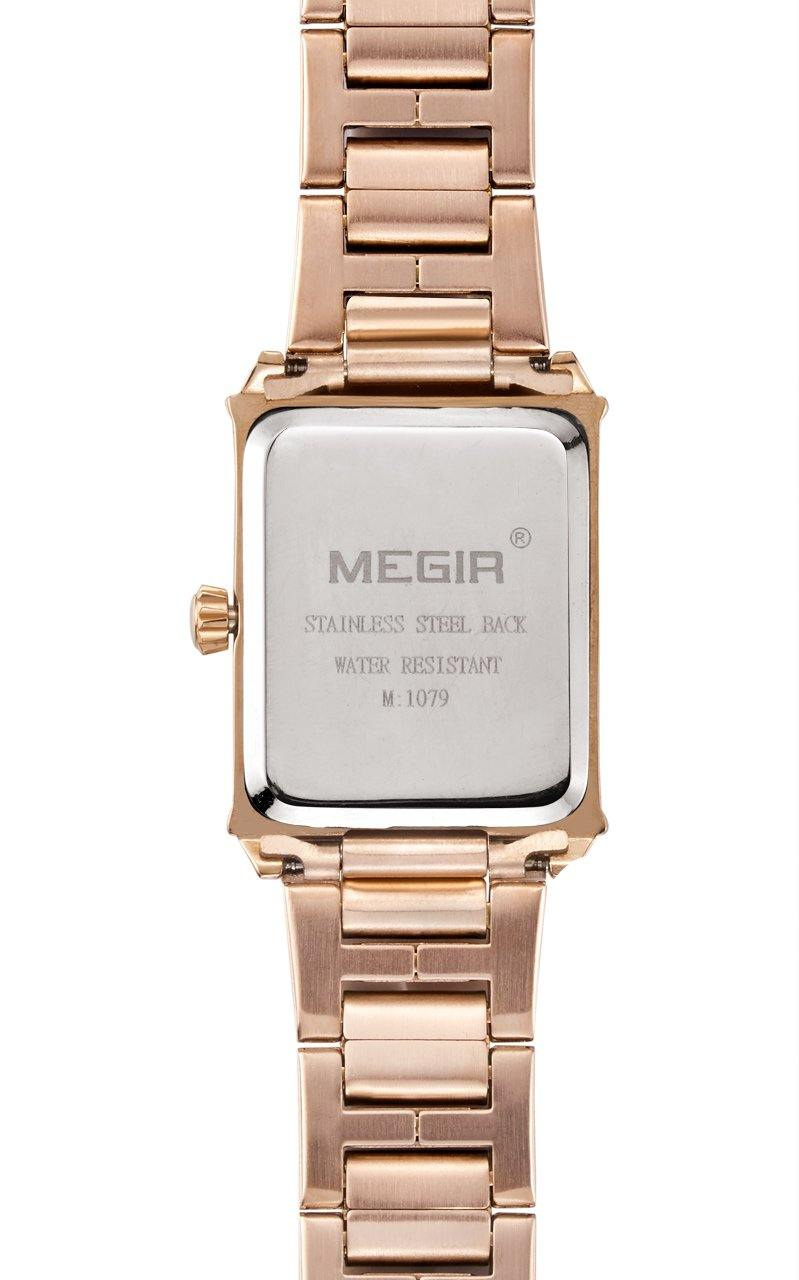 MEGIR Female Luxury Rose Gold Wrist Watch 1079 - MEGIR