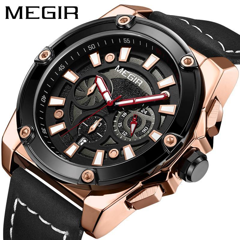 MEGIR men's watch, top brand luxury quartz watch 2122 - MEGIR