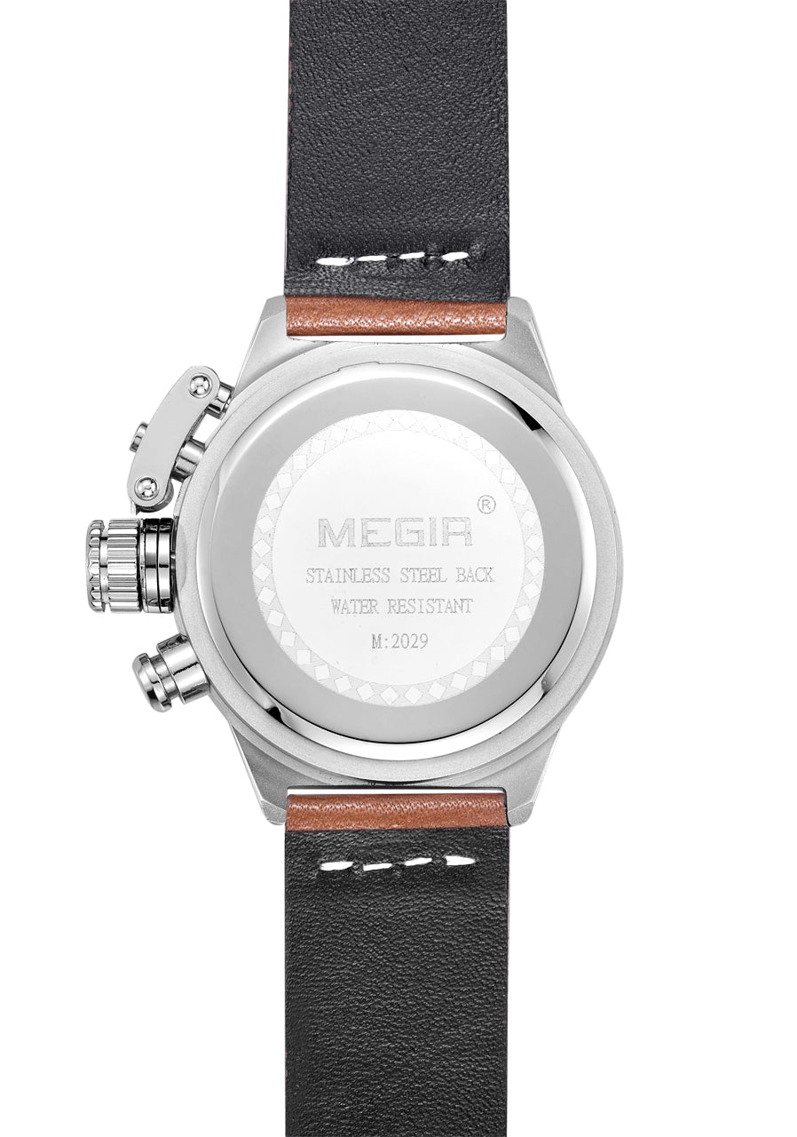 MEGIR Quartz Watch for Men, Multifunction Wristwatch, 2029 - MEGIR