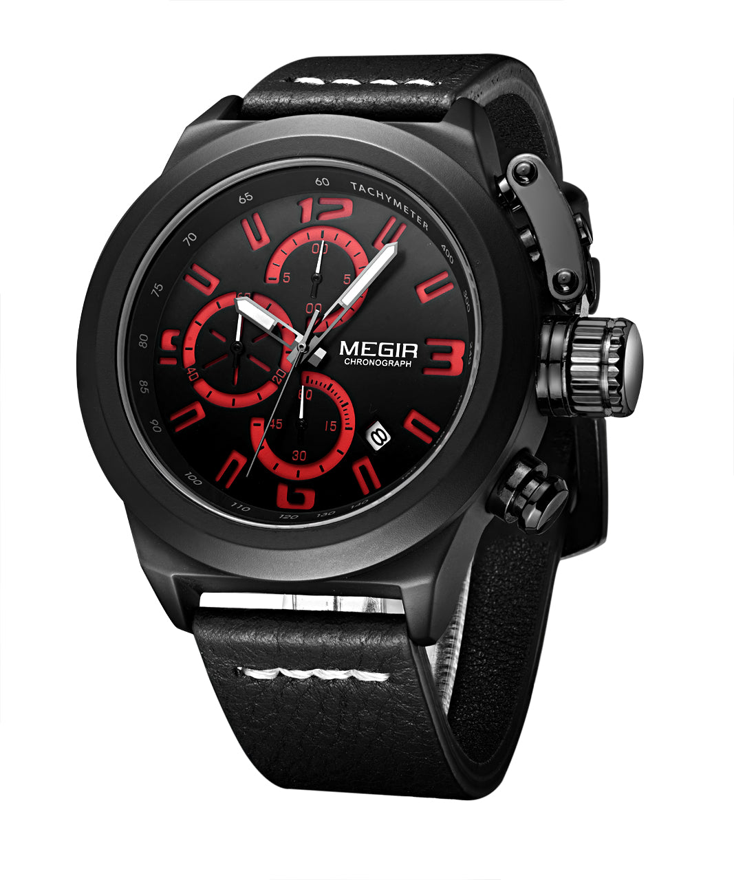 MEGIR Quartz Watch for Men, Multifunction Wristwatch, 2029
